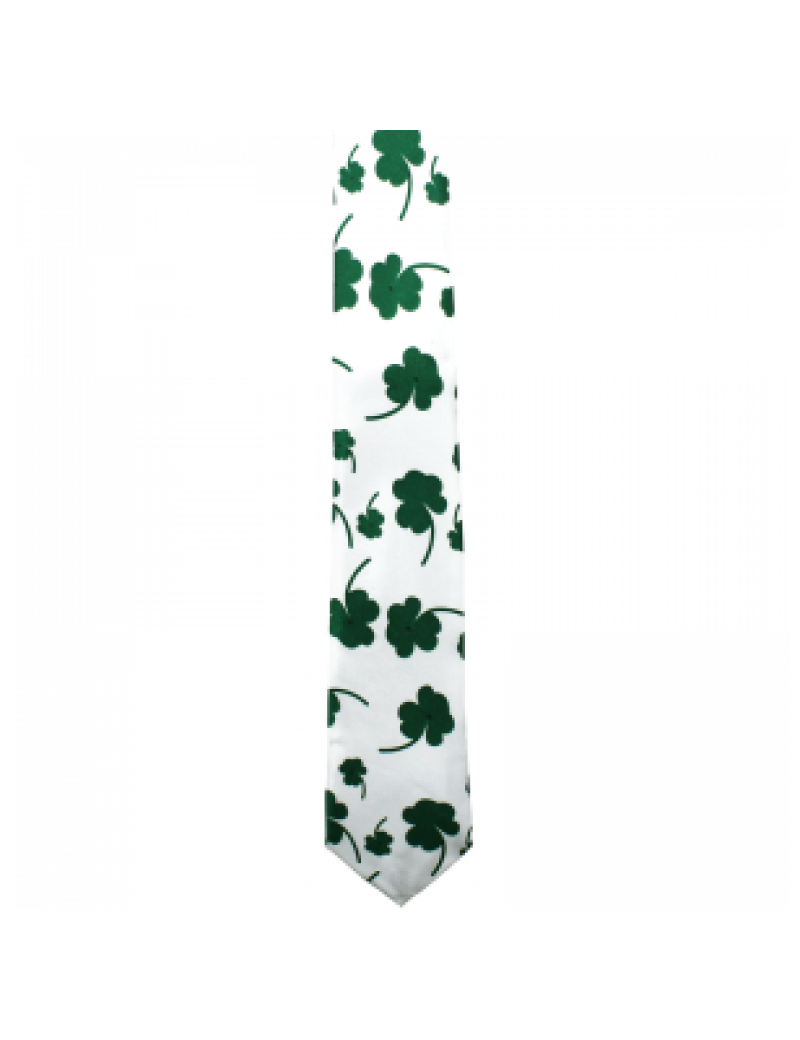 Irish St Patricks Day Shamrock Clover leaf mens tie 76043
