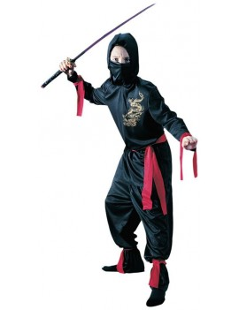 Japanese Ninja Black Child Costume Palmer Agencies Fun World 3626