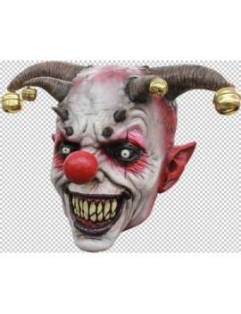 Jingle Jangle evil Jester Halloween fancy dress party mask  Ghoulish Productions GH-26446