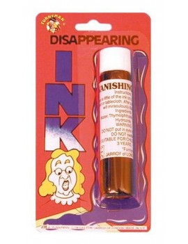Joke Disappearing Ink prank joke Pams Of gainsborough 23014