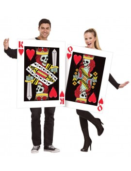 King and queen of evil skull hearts ladies mens Halloween fancy dress costume party Palmers fun world 3116