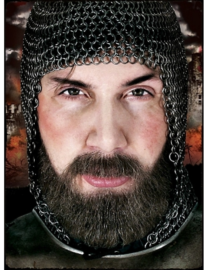 Knight medieval tudor banquet real hair professional theatrical full beard and moustache set Metamorph 104564