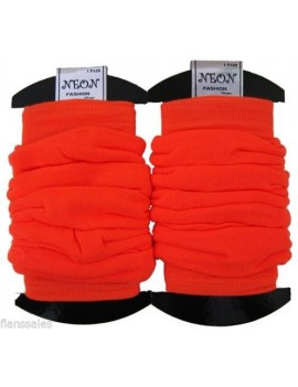Leg warmers neon Orange 80s Fame Roller Disco Dance accressory  20072