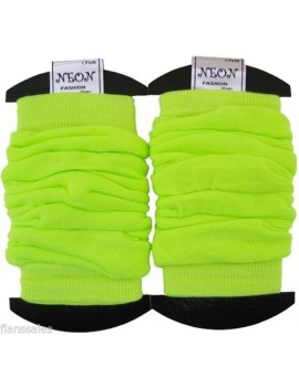 Leg warmers  neon Yellow 80s Fame Roller Disco Dance accessory  20072