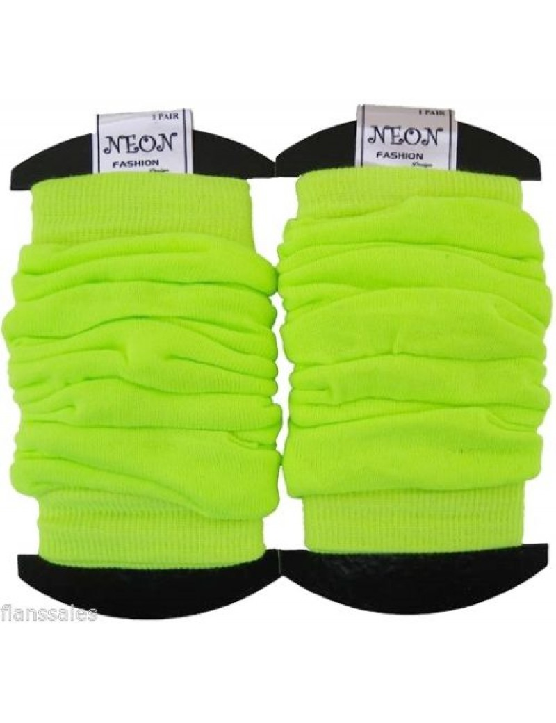 Leg warmers neon yellow 20072