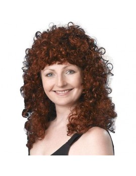 Curly wig long dark brown Bristol Novelty BW321