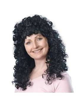 Curly wig long black Bristol Novelty BW320