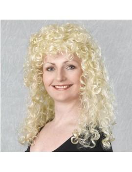 80s curly wig blonde Bristol Novelty BW319