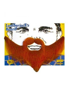 Lumberjack  elasticated false fancy dress  beard dark brown Bristol Novelty MB002