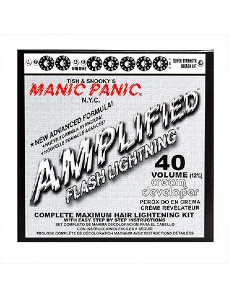 Manic Panic Flash Lightning hair bleaching kit 40 volumn cream formula developer 44203
