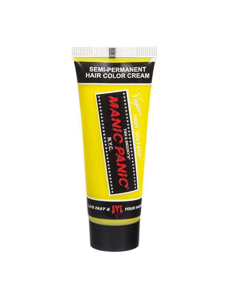 Manic Panic High Voltage cream Yellow semi permanent hair colour dye 25ml Electric Banana 70593