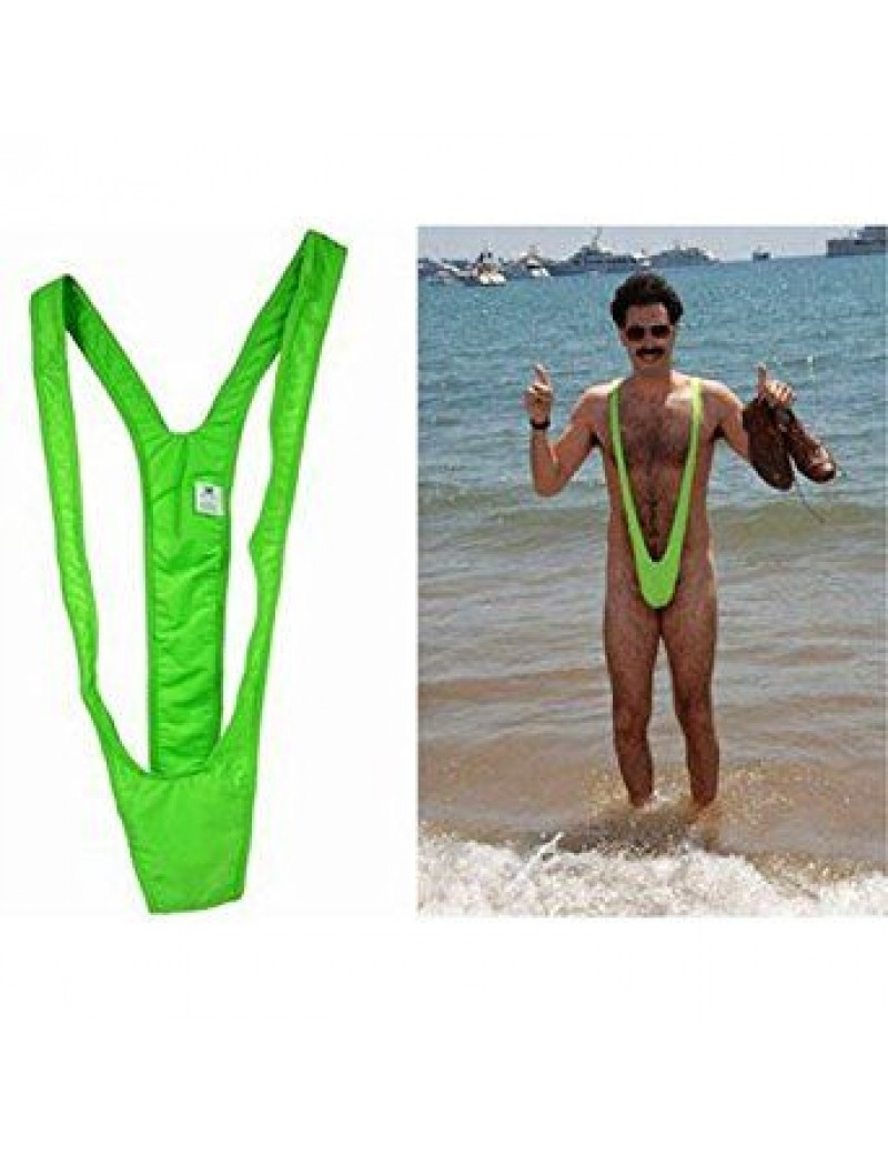 Mankini lime green swimsuit Borat costume 53757