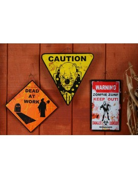Metal road signs indoor outdoor halloween party decoration Palmers 6603A