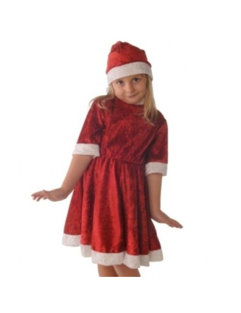 Miss Santa girls Christmas fancy dress party grotto costume Creative Collection C6073 C6073-L