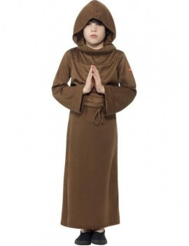 Monk boys medieval Tudor fancy dress Halloween religious Horrible Histories costume Smiffys 25917