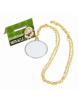 Monocle gold gentlemens deluxe glasses Victorian costume party accessory Bristol Novelty BA097