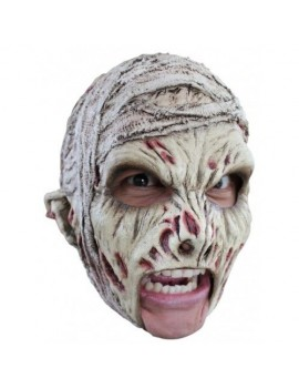 Mummy full over head rubber chin strap fancy dress costume party Ghoulish Productions Halloween mask GH-27511