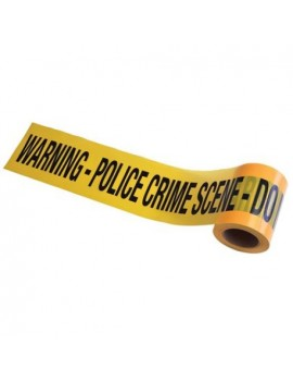 Murder mystery yellow crime scene room decoration tape fancy dress Halloween costume party Bristol Novelty GJ439