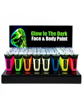 Moon Glow neon UV glow in the dark face and body paint SET OF 8 colours M5472