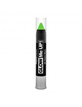 Neon UV activated face and body paint liner stick green 80s festival fancy dress costume party Paintglow AI1H02