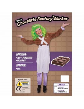 Chocolate Factory Worker Kids Costume Bristol Novelty CC242L