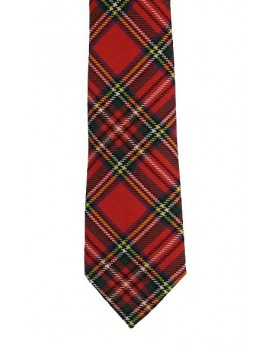 Formal Red Royal stewart tartan tie mens Hogmanay menswear Scottish accessory E Apollo 36625