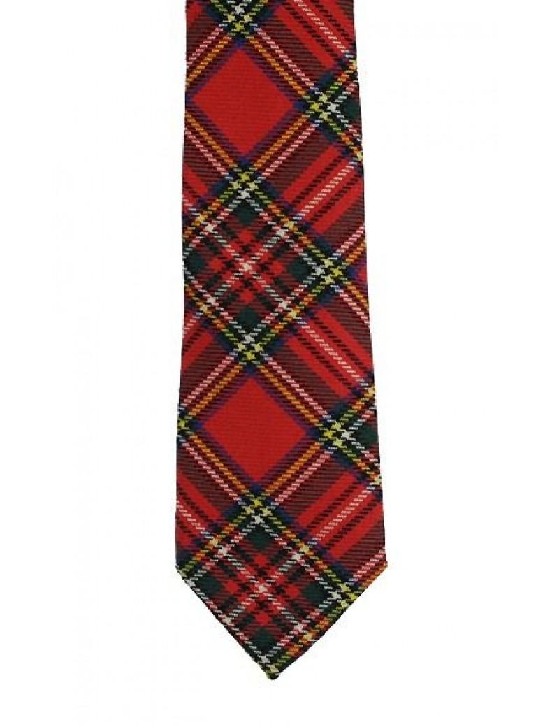 Formal Red Royal stewart tartan tie mens Hogmanay menswear Scottish accessory E Apollo 36625