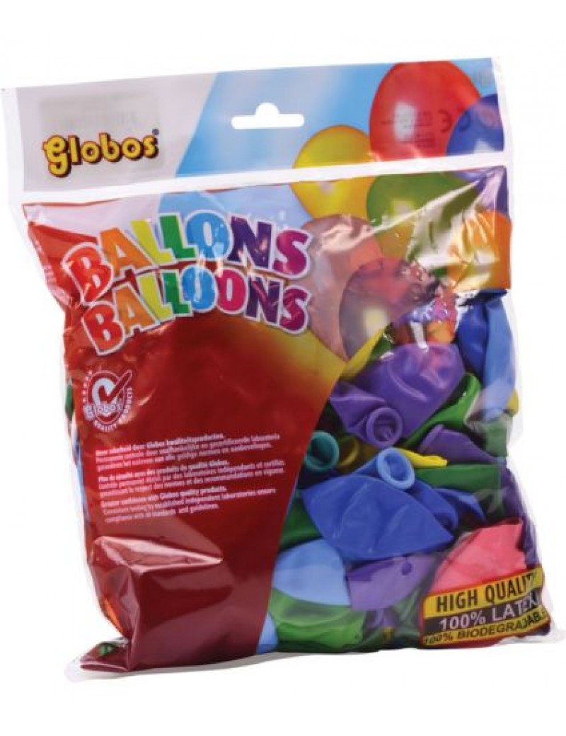 Pack of 100 latex coloured air balloons fancy dress  party decorations Bristol Novelty NB017