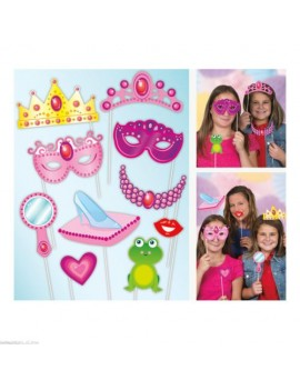 Photo booth selfie card picture  party props princess 10 pack accessory set Unique U61937