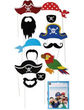 Photo booth selfie card picture pirate party  props Roxan 70947