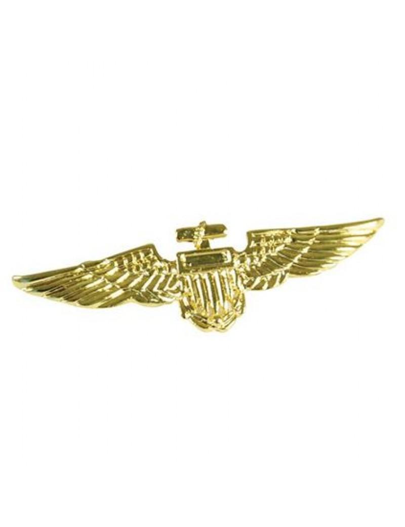 Pilots gold wings fancy dress costume party Top Gun pin on flight badge Bristol Novelty BA027