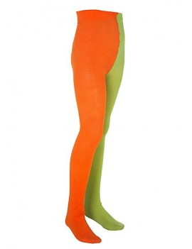 Pippi Longstocking book day official girls costume party green orange tights 3 - 6 years 131048-10