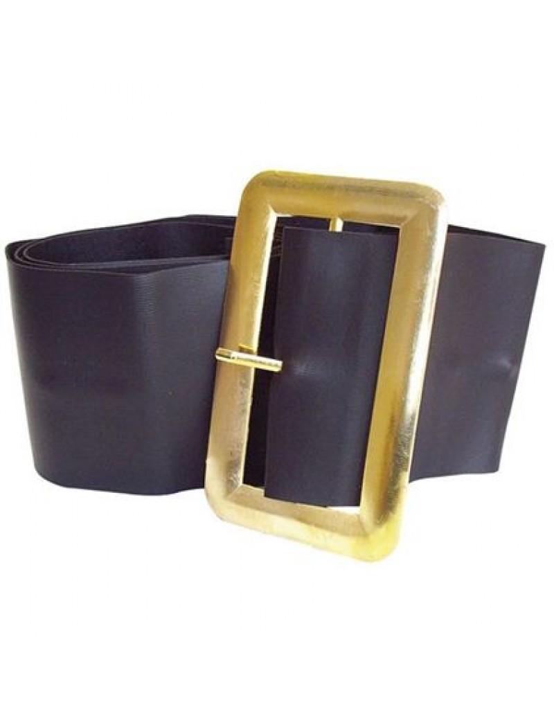 Pirate Hagrid  Santa Father Christmas black vinyl  belt gold buckle Bristol Novelty BA564