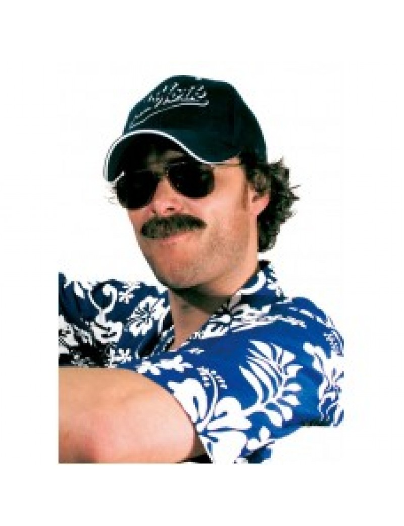 Private eye detective Magnum PI 80s tv  real hair professional theatrical moustache Metamorph 102523