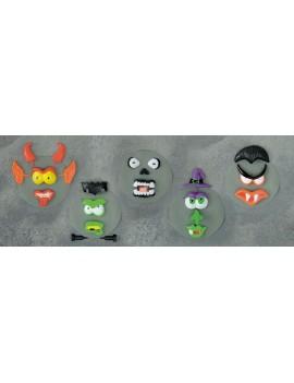 Pumpkin stick push in faces Halloween fancy dress costume party decoration kit Premier Decorations HA102470