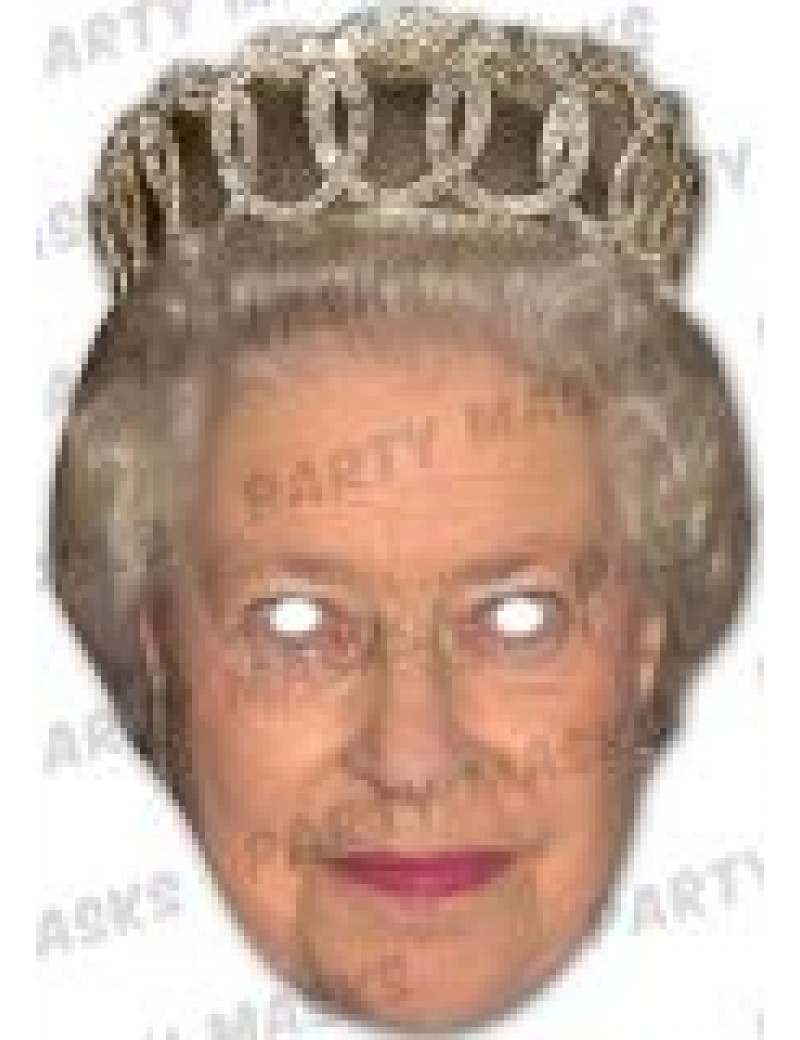 Queen with tiara fancy dress costume party celebrity royalty ladies girls Mask-arade mask