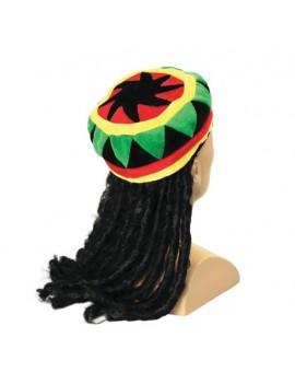 Rasta Hat With Dreadlocks Bristol Novelty BH491
