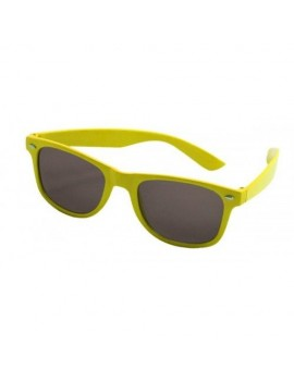 80s Neon Glasses Yellow