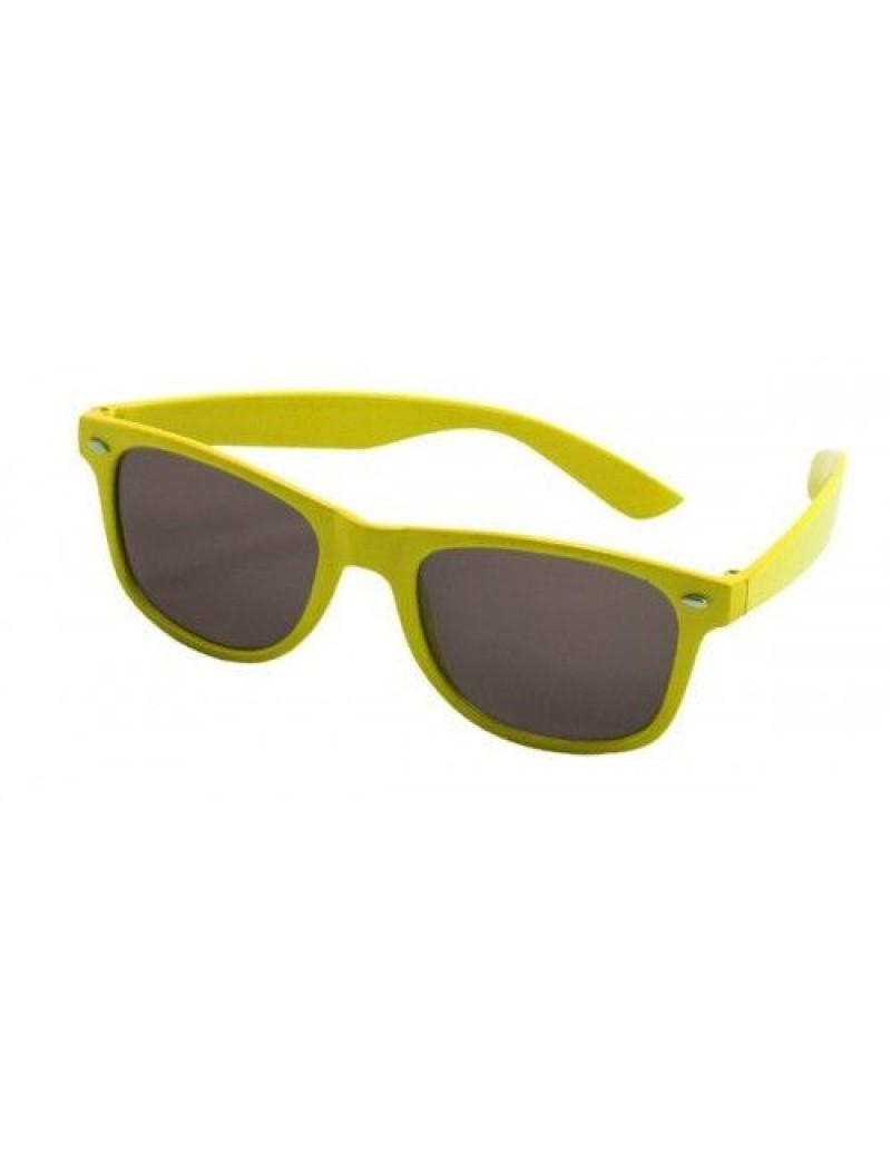80s Neon Glasses Yellow