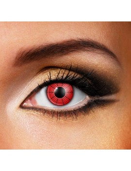 Red Spider web party theatrical daily eye accessories Halloween contact lenses Funky Vision 82819