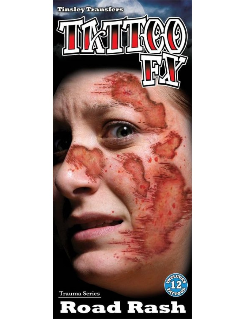 Trauma road rash temporary tattoos Tinsley Transfers TR-105