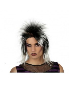 Rock Diva glam rock 80s Bowie Labyrinth  white /black Wig  Creative Collection AT-15828