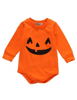 Romper Pumpkin Orange Halloween costume
