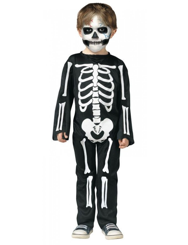 Skeleton Costume Toddler 3 - 4 Years Palmer Agencies 3546