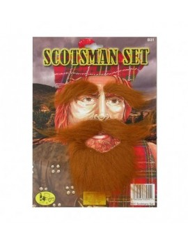 Scotsman Henry VIII leprechaun ginger fancy dress costume party mens beard Set Pams Of Gainsborough 1461602