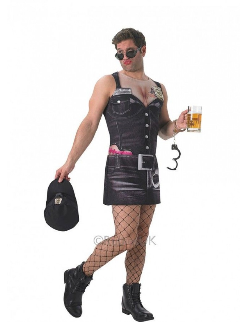 Sgt Stop and Search police mens ladies stag hen night fancy dress costume party t shirt dress XL Rubies 810574