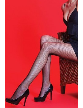 Silky Scarlet Fishnet Tights Black 84422