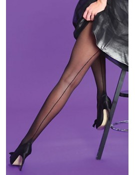 Silky Scarlet Seamer hosiery tights black 30s 40s 50s  vintage period theatrical  84446