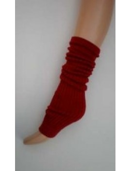 Silky theatrical party 1980s dancewear Fame roller disco leg warmers Burgundy REDUCED TO CLEAR