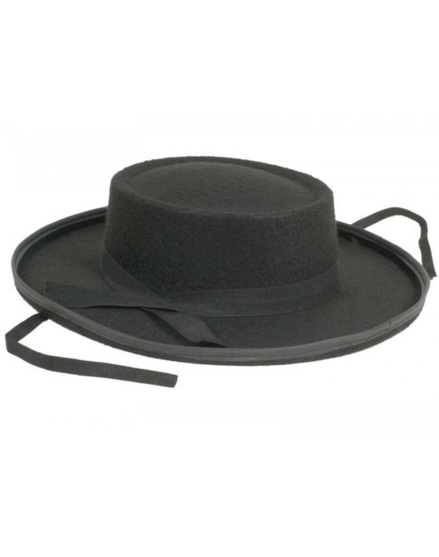 Hat-spanish hat-Mexican hat-fancy dress hat-Zorro accessory a19d36d7d037